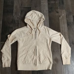 Cream Lace Lucky Brand Zip Up Hoodie